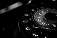 Vintage Old Classic Telephone Communication Device Stock Images