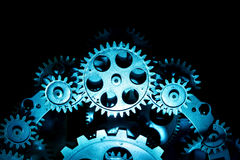 Vintage Old Clock Gears Royalty Free Stock Images