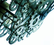 Vintage Old Clock Gears. Photo royalty free stock images