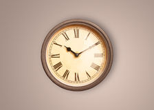 Vintage old clock with showing preicse time Royalty Free Stock Photo