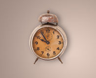 Vintage old clock with showing preicse time Royalty Free Stock Photography