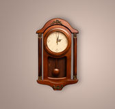 Vintage old clock with showing preicse time Stock Photography