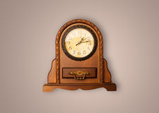 Vintage old clock with showing preicse time Royalty Free Stock Images