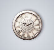 Vintage old clock with showing preicse time Stock Photos
