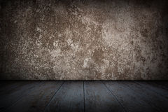 Vintage, Old concrete wall and wooden floor. Stock Photography