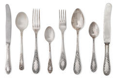 Vintage old cutlery stock photography