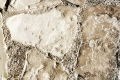 Vintage old decorative stone wall, rough texture of the cobblest.  Stock Image