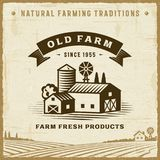 Vintage Old Farm Label Stock Images