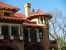 Vintage Old Fashioned Mansion Building Royalty Free Stock Images