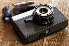 Vintage old film photo-camera Royalty Free Stock Photos