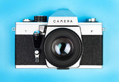 Vintage old film photo-camera Royalty Free Stock Photography