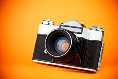 Vintage old film photo-camera Stock Photo