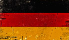 Vintage old flag of Germany. Art texture painted Germany national flag royalty free illustration