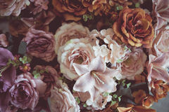 Vintage old flower backgrounds Royalty Free Stock Photos