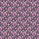 Vintage old flower repeat pattern paper Stock Images