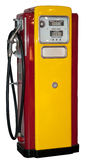 Vintage: old gas station isolated Royalty Free Stock Photo