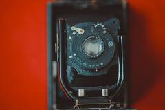 Vintage antique retro black camera stock images