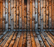 Vintage old grunge wooden plank interior Royalty Free Stock Photos