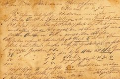 Vintage old handwritting. Vintage old background of letter handwritting royalty free stock images