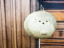 Vintage old hat on wooden wall Royalty Free Stock Photography