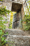 Vintage old house door, Southern France Royalty Free Stock Images