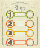 Vintage Infographics design in retro Style Royalty Free Stock Images