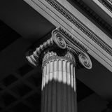 Vintage Old Justice Courthouse Column Stock Images