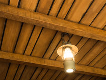 Vintage old latern lamp in barn Stock Photos