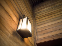 Vintage old latern lamp in barn Stock Image