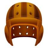 Vintage, old leather american football helmet royalty free illustration