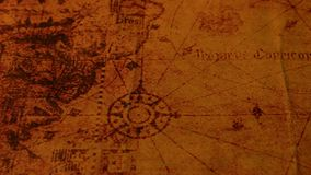 Vintage old map. Close up of a vintage old map stock video footage