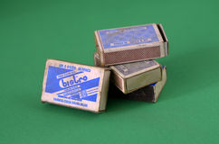 Vintage old Matchboxes Royalty Free Stock Photo