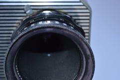 Vintage old movie camera lens stock image