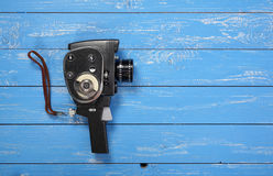 Vintage old movie film camera Stock Photo