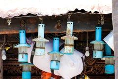 Vintage old oil lanterns. Royalty Free Stock Photos