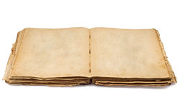 Vintage old open book Royalty Free Stock Images