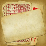 vintage old pack of cards for design Royalty Free Stock Images