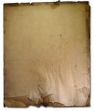 Vintage old paper. Isolate crack & dirty royalty free stock photos