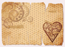 Vintage Old Paper Love card Stock Photography