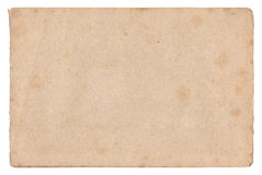 Vintage old paper texture isolated Royalty Free Stock Images