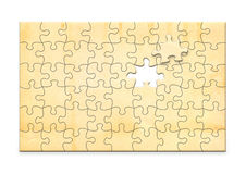 Vintage  paper on white background in the form of a puzzle Stock Image