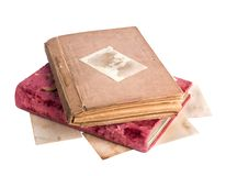 Vintage old photo albums isolated Royalty Free Stock Photography