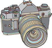 Vintage old photo camera Royalty Free Stock Photography
