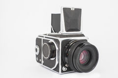 Vintage old photographic medium format camera. Stock Image