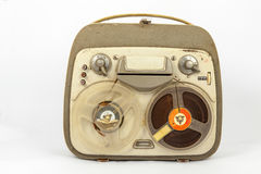 Vintage old portable tape recorder Royalty Free Stock Image