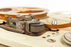 Vintage old portable tape recorder Royalty Free Stock Photos