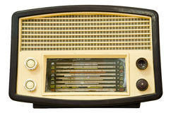 Vintage old radio isolated Stock Images