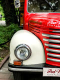 Vintage old red truck. Krakow, Poland - July 26, 2017 : Vintage old red truck Royalty Free Stock Photos