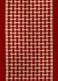 Vintage old red and white plaid Stock Images