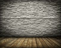 Vintage old room with brick wall Royalty Free Stock Photo